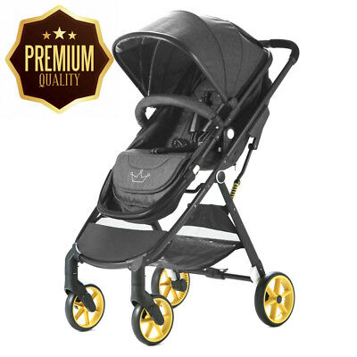 Allis® Baby Pushchair 2in1 Pram Buggy Travel Ultralight Stroller - City -...