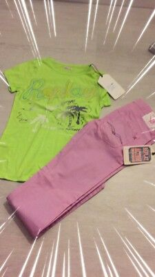 Girls Designer Replay Jeans And Top