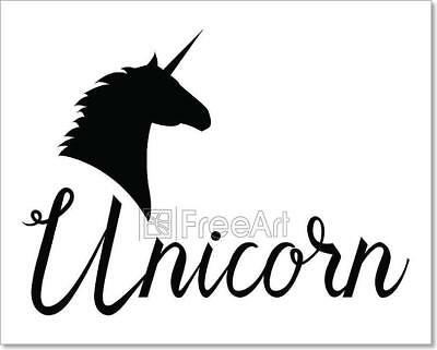 Unicorn Head Mythical Horse Art Print Home Decor Wall Art Poster - C