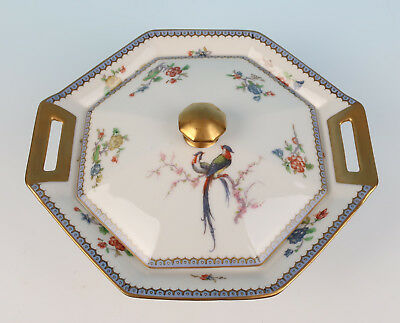 Haviland Limoges Paradise TUREEN Blue Eden Bird French Service Porcelain China