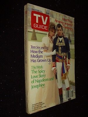 Us Tv Guide:7-13 November 1987:jacqueline Bisset/armand Assante/judd Nelson:rare