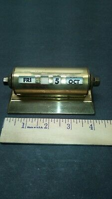 Vintage Brass Day And Date Roller