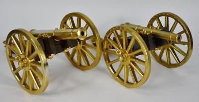 2 Bassett and Lowke Scale Replicas: 6lb & 9lb Battle of Waterloo Brass Cannons