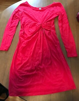 Old Navy Maternity Dress Pink Twist Front Size Small