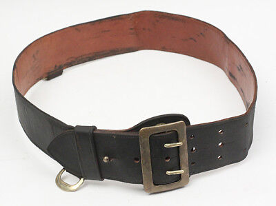 Vintage Army Officer Leather Cavalry Belt
