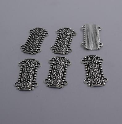 Free Ship 30 pieces Antique silver flower connector 28x23mm #842