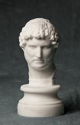 Bust of Hadrian carved Greek  MARBLE statue figurine artist sculpture