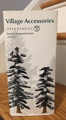 Department 56 Village Accessories Heavy Snowed Trees *Retired 4047563 NEW IN BOX