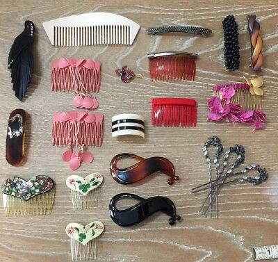 Vintage Hair Jewelry 80s-90s Accessories Barrette Clip France And Goody Lot