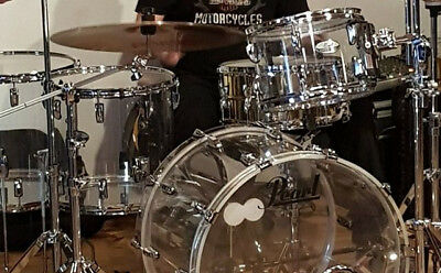 """Pearl Crystal Beat - Ultra Clear 22"""" 12"""" 14"""" 16"""" Shell Set - Schlagzeug -Drumset"""