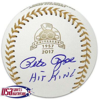 Cincinnati Reds Pete Rose Signed Autographed Gold Glove 60th Baseball JSA Auth