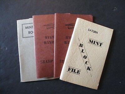 Mint stamp file books lot of 4 used   b