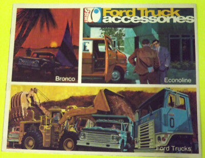 1970 Ford Truck Accessories Catalog/Brochure