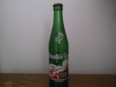 Vintage Empty Mountain Dew ACL Soda Bottle,It'll tickle yore innards, with cap