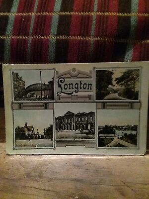 Staffordshire LONGTON 6 Image Multiview c1908 Postcard by W. Shaw