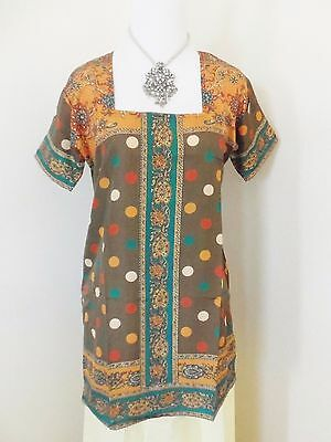 Indian Bollywood Kurta Kurti Designer Women Ethnic Dress Top Tunic Pakistani MED