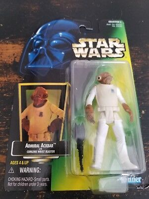 """Star Wars Power of the Force POTF Admiral Ackbar 3.75"""" Figure. New.  Kenner 1997"""