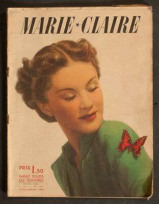 'marie-Claire' French Vintage Magazine 21 May 1937