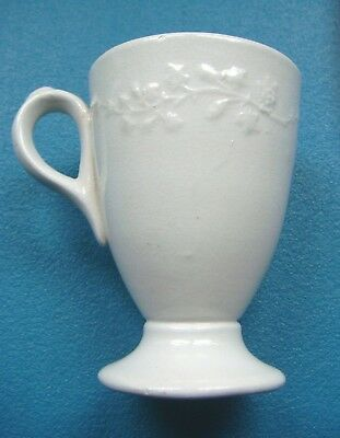 White Ironstone Syllabub Cup-Lilly of The Valley Pattern