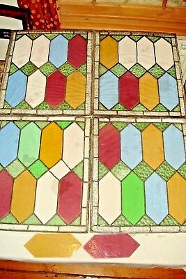 Four 19th Century Stained Glass Windows,Victorian,Antique,Leaded Glass 2