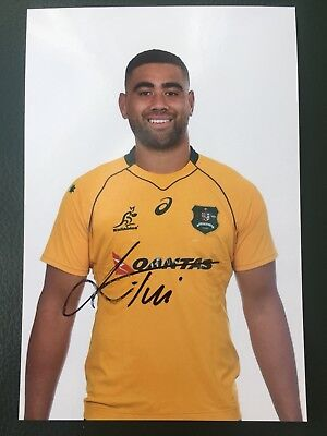 Lukhan Tui - Australia Rugby Player Signed 6x4 Photo