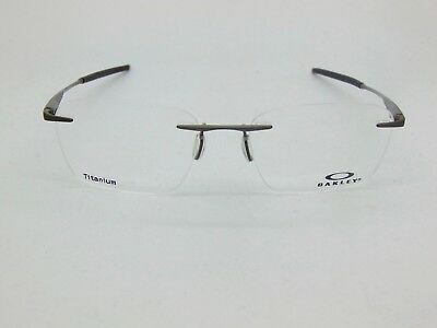 901278cd3c OAKLEY WINGFOLD EVS OX5115-0153 Satin Pewter Rimless Titanium 53mm Rx  Eyeglasses