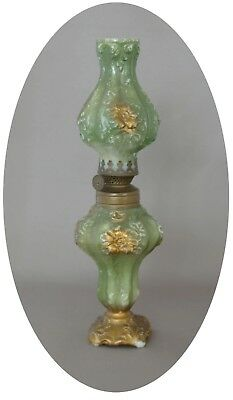 Antique Goofus Glass Miniature Oil Lamp S1-153