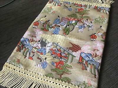 APPLIQUED Chinese scenery table decor 40x23 cm incl fringe VGUC Surplus to need