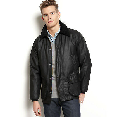Barbour 'Bedale' Relaxed Fit Waxed Cotton Jacket Size 46 / XL Black NEW