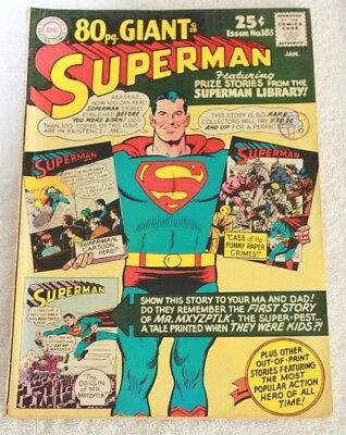 SUPERMAN  No.183....JAN  1966...NATIONAL  PERIODICAL...A  LOVELY  CLEAN  COMIC