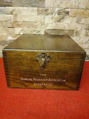 Vintage Wooden Box, Clinical Apparatus Box