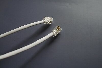 Telephone Handset Receiver cable. Straight Cable(Not curled) RJ10 to RJ10 4p4c