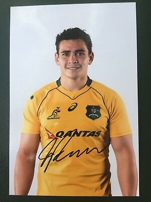 Izaia Perese - Australia Rugby Player Signed 6x4 Photo
