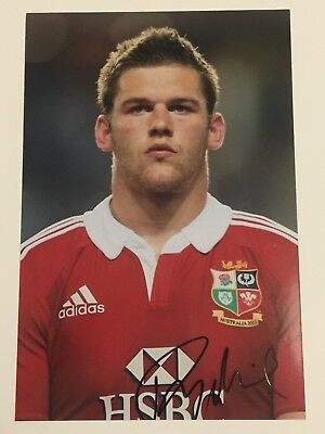 Dan Lydiate - British Lions Rugby Player Signed 6x4 Photo