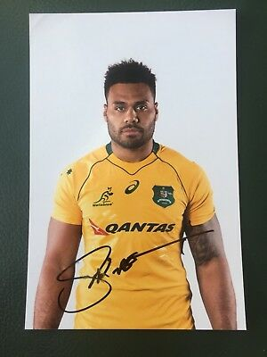 Samu Kerevi - Australia Rugby Player Signed 6x4 Photo