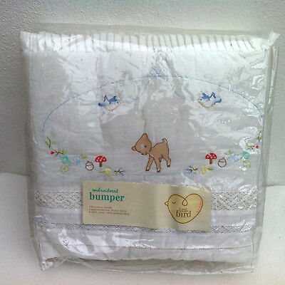Mothercare ~ Little Bird ~ Embroidered Cot / Cot Bed Bumper By Jools Oliver NEW