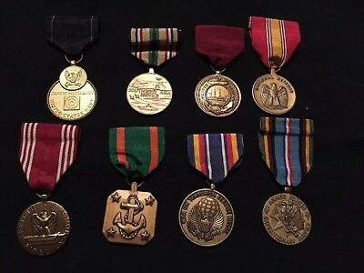 Vintage US Navy Military Medals Lot Of 8