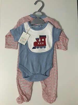 3ff387018d37 Boots Mini Club Baby Boy 3 Piece Set 0-3 Months Christmas Gift BNWT