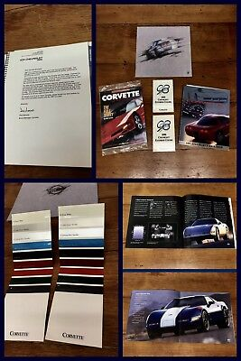 Corvette Books Color Brochures GM Dealership Chevrolet Showroom Vintage Original