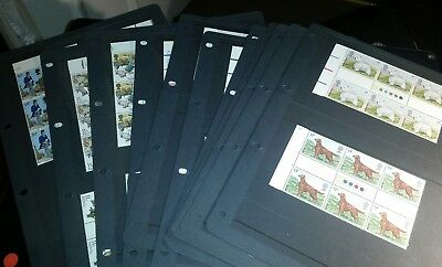 Gb QEii stamps, traffic light gutter pairs collection, MNH, lot 1.