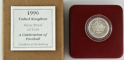 1996 Royal Mint Celebration of Football Silver Proof £2 coin, COA, Box Outer (2)
