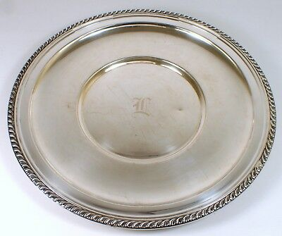 "RARE Antique Vtg MANCHESTER 450g Sterling Silver 12"" Round Serving Tray Platter"