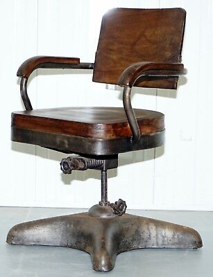 1 Of 2 Industrial Steel Tankers Office Chairs Restored Timber Seriously Cool