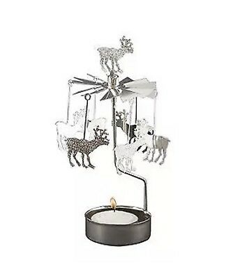 Reindeer Rotary Candle Holder By Anglaspel BRAND NEW IN BOX