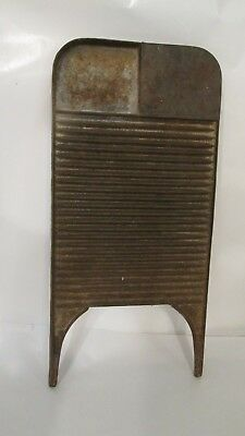 Rare Antique Primitive Cast Iron Washboard Wagner? Erie? Griswold? Unknown Maker