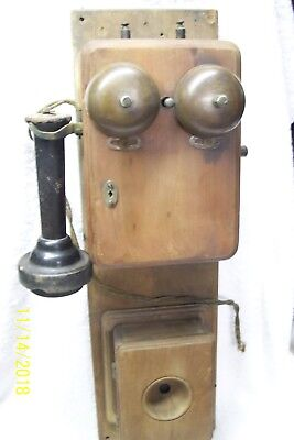 1880's Wall Telephone, two box