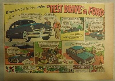 """Ford Ad: """"Test Drive a Ford"""" from 1950"""