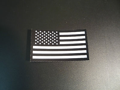 """FWD USA FLAG WHITE ON IR MB solasX PATCH 3.5""""X2"""" 2nd WITH VELCRO® BRAND FASTENER"""