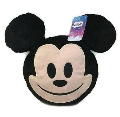 """Disney Mickey Mouse 12"""" Emoji Pillow for Kids NEW"""