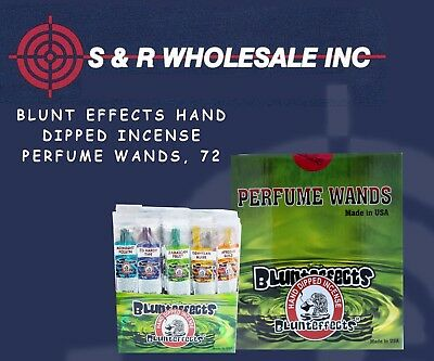 Blunt Effects Hand Dipped Incense Perfume Wands, 72 ct Display